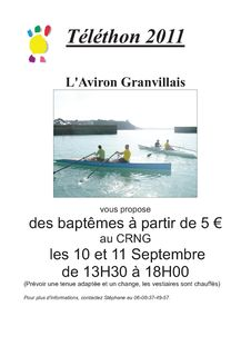 initiation aviron granvillais
