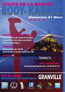 Affiche coupe baie body karate granville
