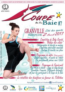 Affiche coupe baie body karate granville 2017